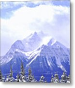 Snowy Mountain Metal Print by Elena Elisseeva