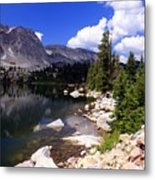 Snowy Mountain Lake Metal Print