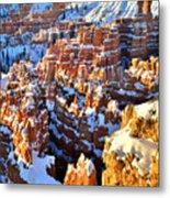 Snowy Overlook Metal Print