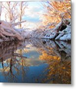 Snowy Refections Metal Print