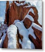 Snowy Ridge Metal Print