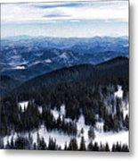 Snowy Ridges - Impressions Of Mountains Metal Print