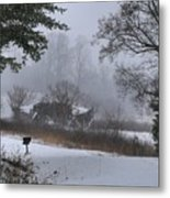 Snowy Road 2 Metal Print