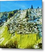 Snowy Rock Mountain Metal Print