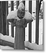 Snowy Statue Metal Print