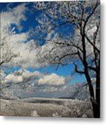 Snowy Sunday Metal Print