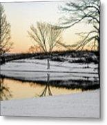 Snowy Sunset Metal Print