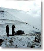 Snowy Switchbacks On Pikes Peak Metal Print