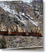 Snowy Train Metal Print