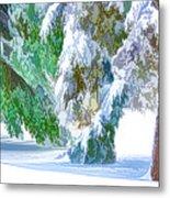 Snowy Winter Metal Print