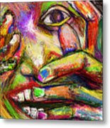 So Happy and Fingers Metal Print