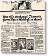Your Silk Stockings Vintage Soap Ad Metal Print