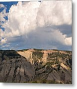Soaring Above Mount Everts Metal Print