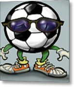 Soccer Cool Metal Print