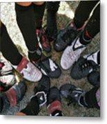 Soccer Feet Metal Print