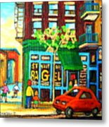 Soccer Game At The Bagel Shop Metal Print