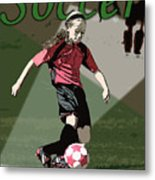 Soccer Style Metal Print