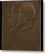 Soci?t? Nationale Des Beaux-arts: Jean-louis Ernest Meissonier And Pierre Puvis De Chavannes [obverse] Metal Print