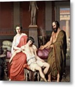 Socrates Chiding Alcibiades Metal Print