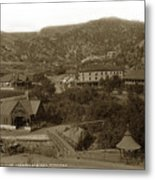 Soda Springs And Cliff House In Manitou, Colorado Metal Print
