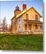Sodus Point Lighthouse And Museum Metal Print
