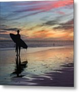 Surfing The Shadows Of Light Metal Print
