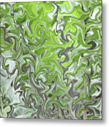 Soft Green And Gray Abstract Metal Print