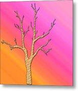 Soft Pastel Tree Abstract Metal Print