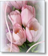 Soft Pink Tulips Metal Print