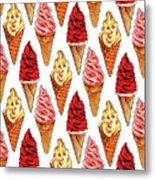 Soft Serve Pattern Metal Print