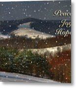 Soft Sifting Christmas Card Metal Print