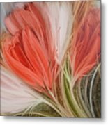 Soft Tulips Metal Print by Fatima Stamato