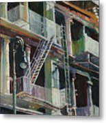 Soho Fire Escapes Metal Print