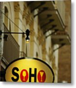 Soho Wine Bar Metal Print