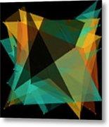Soil Polygon Pattern Metal Print