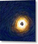 Solar Eclipse In Totality Painting Metal Print