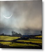 Solar Eclipse Over County Clare Countryside Metal Print
