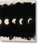Solar Eclipse Phases Metal Print
