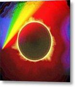 Solar Eclipse Spectre Metal Print