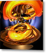 Solar Flare Abstract Metal Print