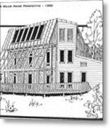 Solar House Metal Print
