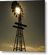 Solar Meets Wind Metal Print by Barry C Donovan