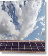 Solar Panels On Roof Top Metal Print