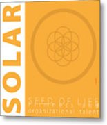 Solar Plexus Chakra Series Three Metal Print