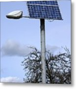 Solar Powered Street Light, Uk Metal Print by Mark Williamson
