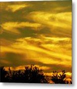 Solar Storm Sunset Metal Print