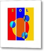 Solar Style Metal Print