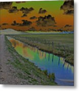 Solarized Sky Metal Print