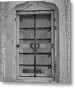 Soldatenbau Window B W Metal Print