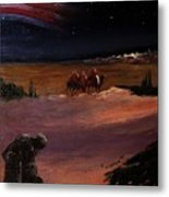 Soldier And Wise Men On The First Christmas Metal Print